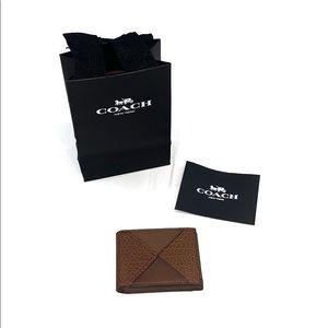 (NWT) Coach Mens Dark Brown Mutli-Pocket Wallet